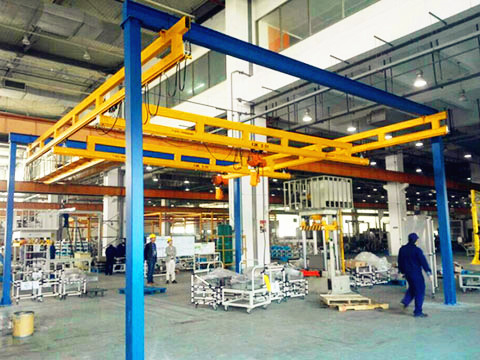 standard free standing overhead crane for sale